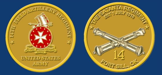 14th FA Regiment Coin